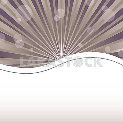 Abstract background template with sun baubles and waved strip