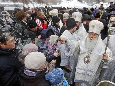 Celebration of Epiphany in Kiev.
