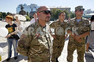 Memory rally to the anniversary of the events in 2014 near Ilovaisk