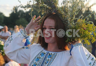 Girl in a flower wreath