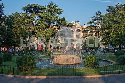 Fountain of the Alps in Verona