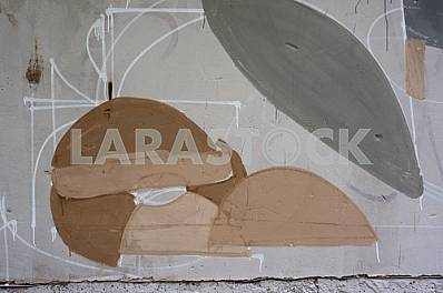 Fragment of grafiti on a concrete wall.Abstract background.