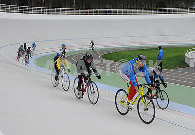 Young cyclists on the cycle track