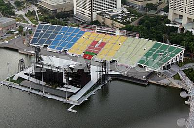 Singapore. Outdoor concert venue
