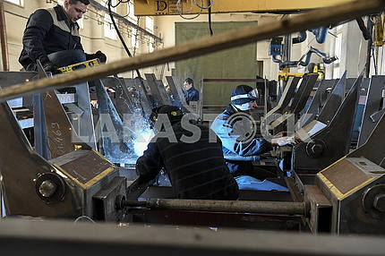 Welders in the workshop