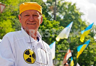 Protest of employees of the Chernobyl nuclear power plant in Kiev