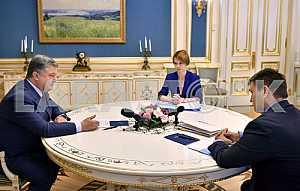 Petro Poroshenko, Pavlo Klimkin and Elena Zerkal