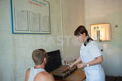 Recruits undergo a medical examination