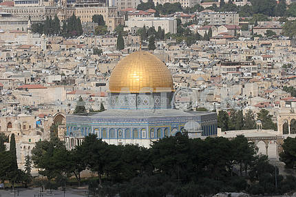 Old Jerusalem. Golden Mosque - Dome on the Rock