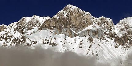 Mountain peaks in Tyrol, Austria
