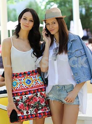 Anastasia Pshenichnaya and Executive Director of the Miss Ukraine National Committee Irina Kopanitsa