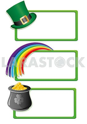 Set of banners for St. Patrick's Day. Part  3