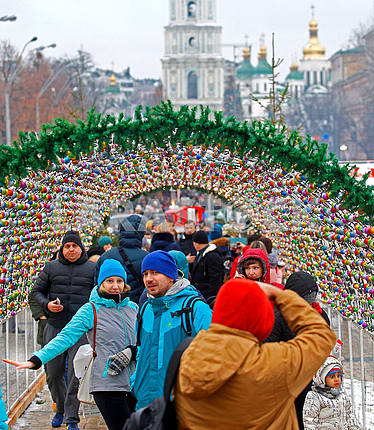 Celebrating Christmas in Kiev