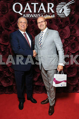 During the Gala dinner in honor of launching a new direction Kiev-Doha world famous airline Qatar Airways