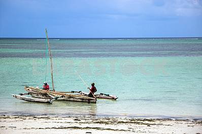Boat near the beach. Zanzibar