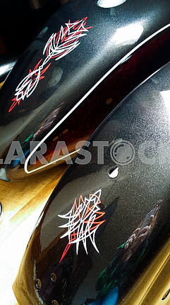Pinstriped Motorcycle Tins
