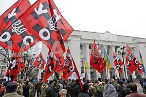 Rally near the Verkhovna Rada in Kiev.