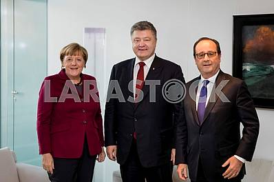 Angela Merkel, Peter Poroshenko and François Hollande