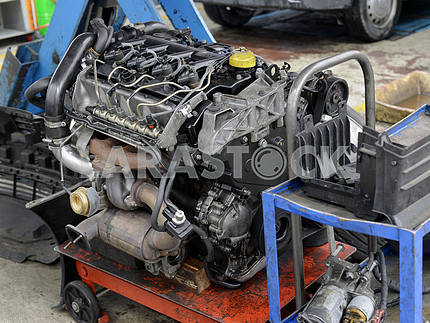 Car engine repair shop