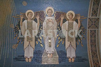 Angels, mosaic, Basilica of the Transfiguration, Mount Tabor, Israel