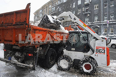 Snow removal equipment in Kiev
