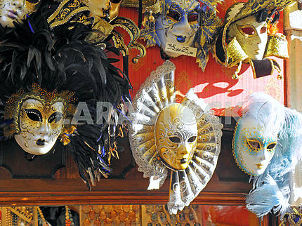 Carnival in Venice,fancy masks,4