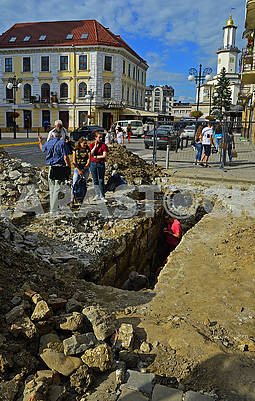 Archaeological excavations in the historic part of the old city