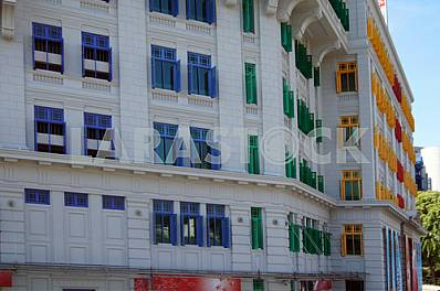 Singapore. The building with colorful window