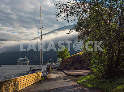 Ships and yachts in Hardangerfjord