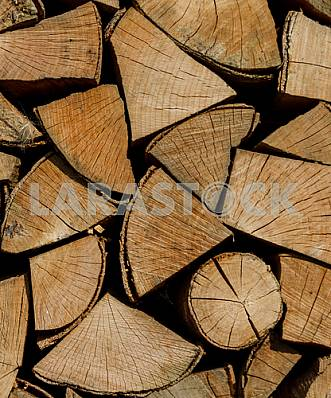Background of firewood for heating season