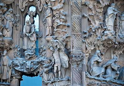 The lower part of the facade of the Nativity