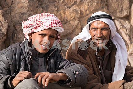 Father Bedouin with son