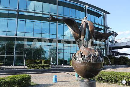 Rotating monument dedicated to Ivan Mazepa