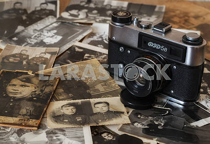 Old camera and pictures