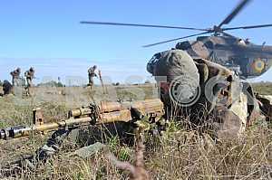 Paratrooper with a gun