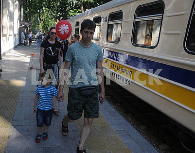 "People at the station ""Kyiv Passenger Children"""