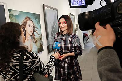 "Photo artist Julia Savenko presented the work ""The Birth of Venus"" at the Ukrainian Art Week."