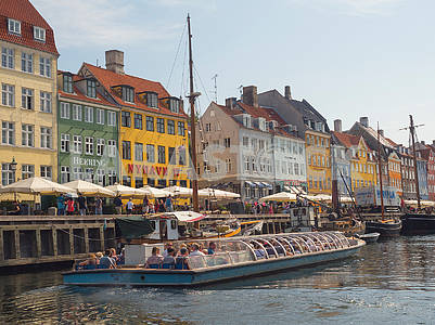 Boat on the Nyhavn Canal