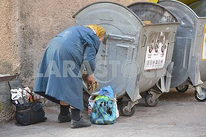 Old age in the trash