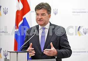 Slovak Foreign Minister Miroslav Lajcak in Kiev.