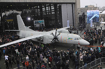 Airplane An-132D during the presentation