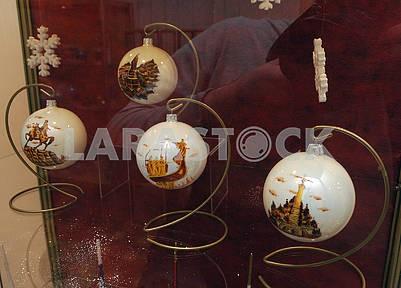 Christmas balls with views of Kiev