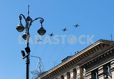 Planes over Khreshchatyk