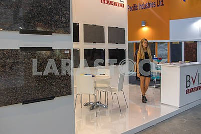 Stand at the marble exhibition