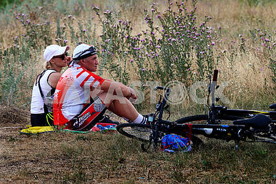 Participants of the bike race in the Dnieper