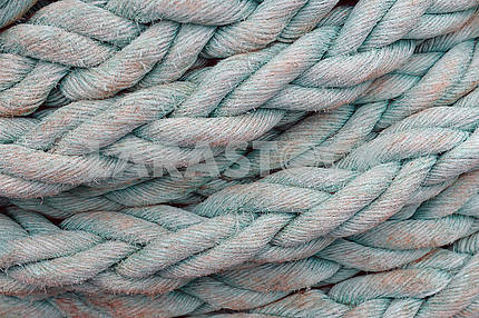 Thick rope on the ship's deck