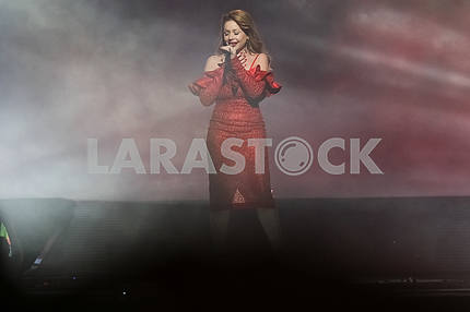 Tina Karol at the award ceremony of the M1 Awards 2016