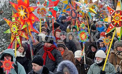 Christmas Celebration at St. Sophia Square in Kyiv