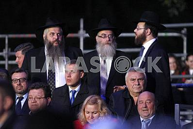 Jews during the commemoration ceremony