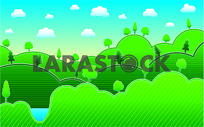 Spring or summer background with meadow